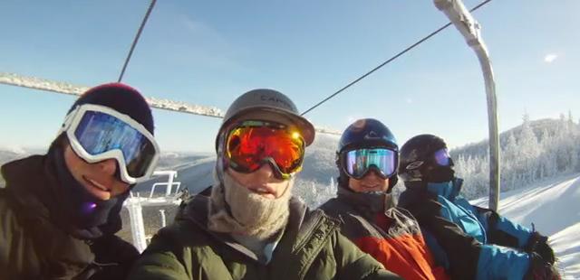 Maine Christmas Snowboarding