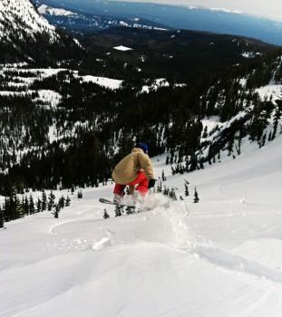 Andreas mt Adams snowboarding air