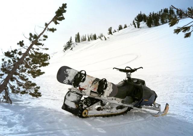 snowmobile snowboard rack mt Adams