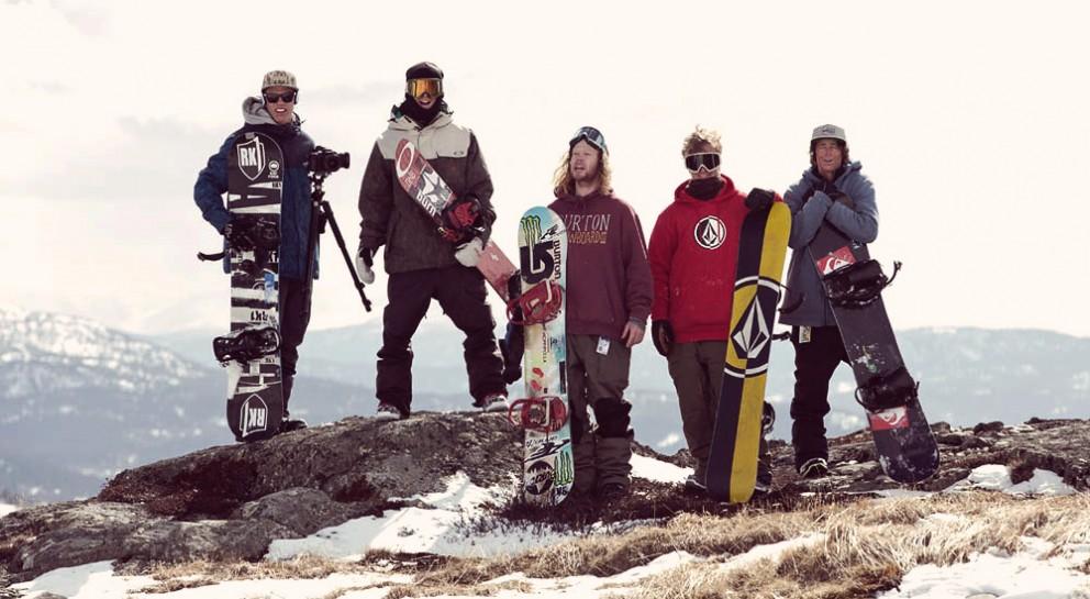 RK1 snowboarding crew