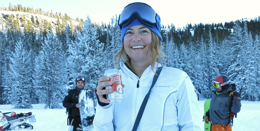 nikki_drinking_beer_at_tam_trailhead