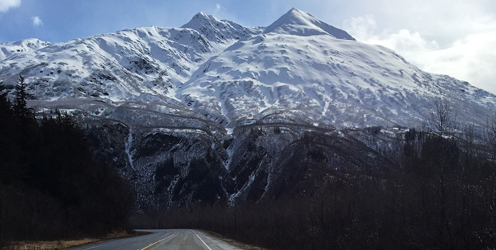 Richardson Highway Valdez springtime