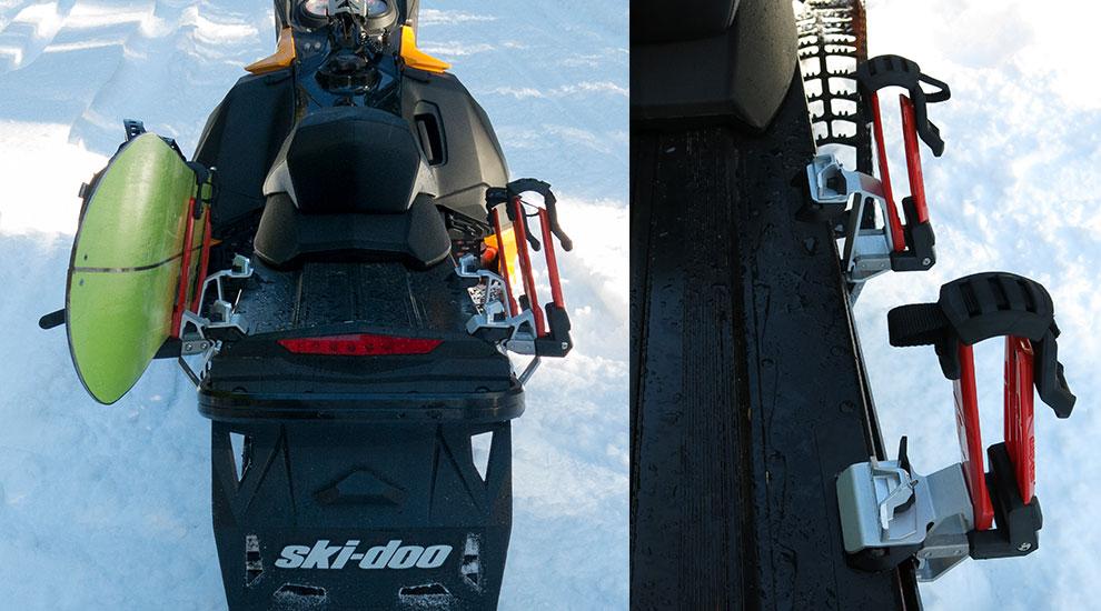 ski-doo snowboard racks installed