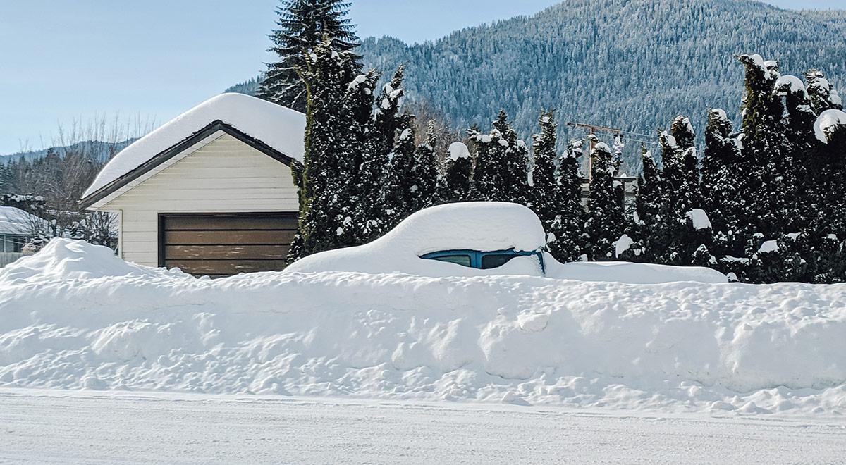 BC snowy streets